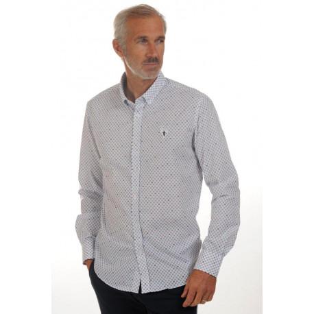 Chemise à imprimé losanges Blanche