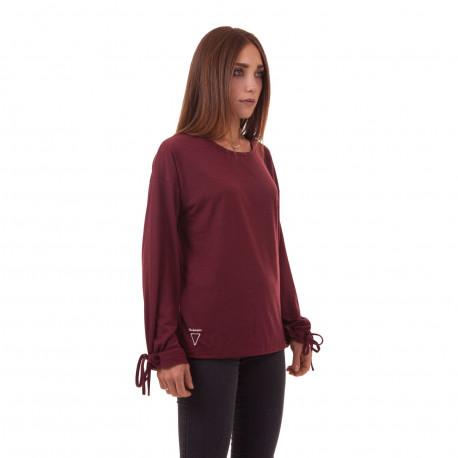 Tee-shirt Manches Longues Bordeaux