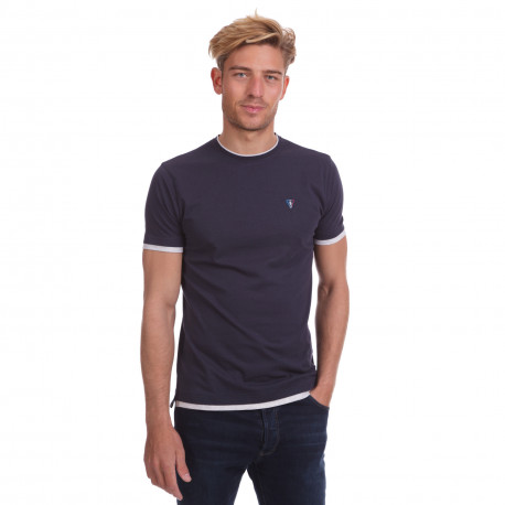 Tee shirt uni bicolor